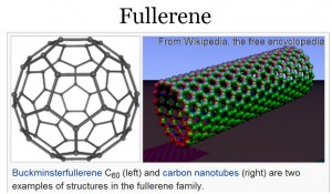 chain of fullerene molecules